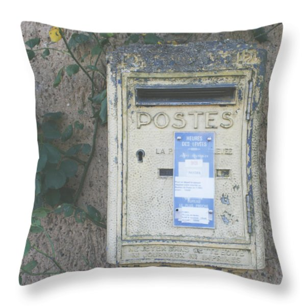 La Poste Throw Pillow by Nomad Art And  Design