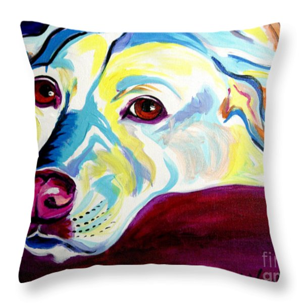 Lab - Luna Throw Pillow by Alicia VanNoy Call