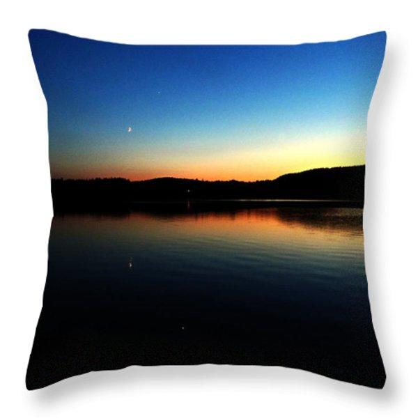 Lac Caribou Quebec Throw Pillow by Danielle  Parent