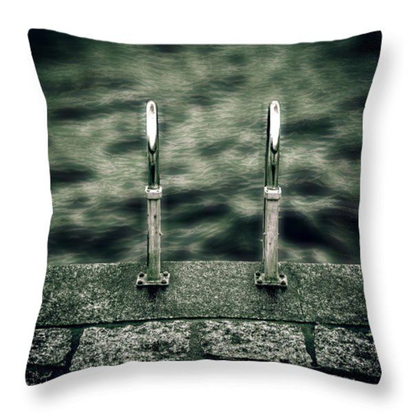 ladder Throw Pillow by Joana Kruse