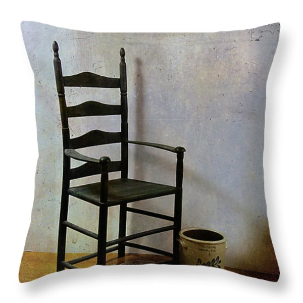 Ladderback Throw Pillow by Judi Bagwell