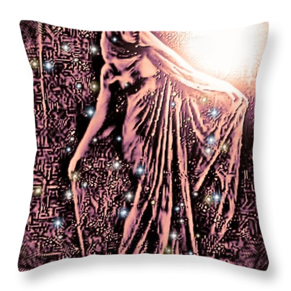 Lady Of The Night Throw Pillow by Tisha McGee