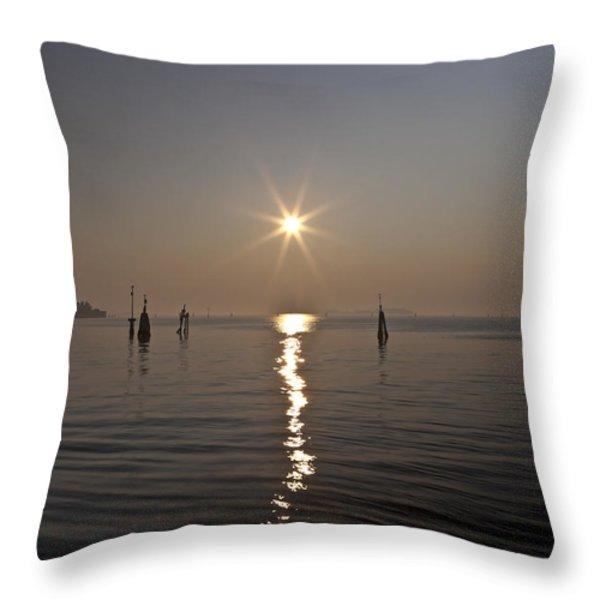 lagoon of Venice Throw Pillow by Joana Kruse