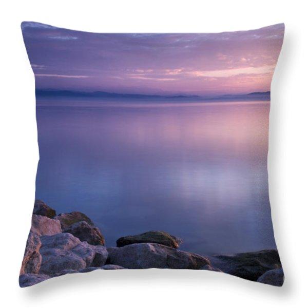 Lake Constance Throw Pillow by Silke Magino