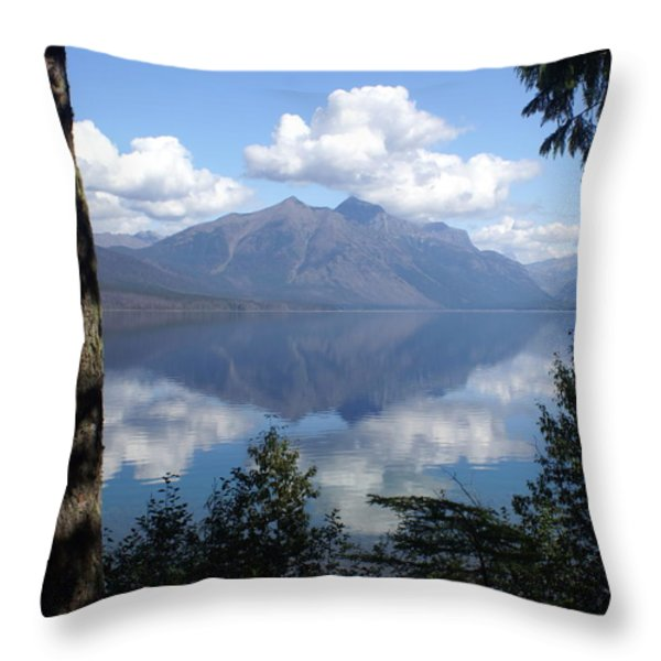 Lake McDonald Glacier National Park Throw Pillow by Marty Koch