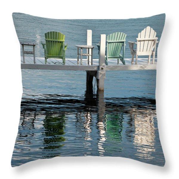 Lakeside Living Throw Pillow by Steve Gadomski