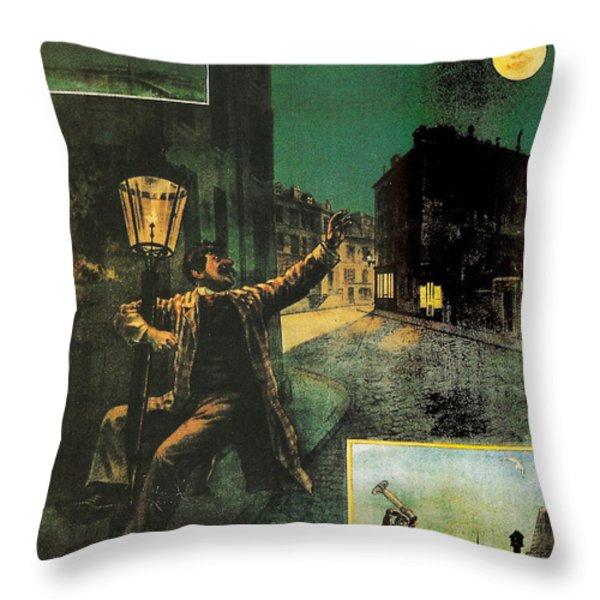 L'amant De La Lune Throw Pillow by Nomad Art And  Design
