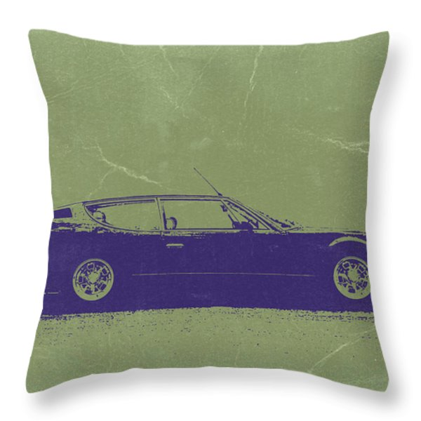 Lamborghini Espada Throw Pillow by Naxart Studio
