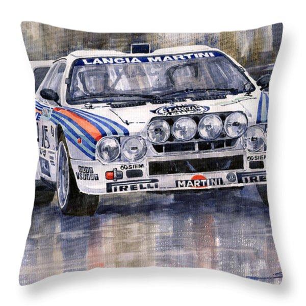 Lancia 037 Martini Rally 1983 Throw Pillow by Yuriy  Shevchuk