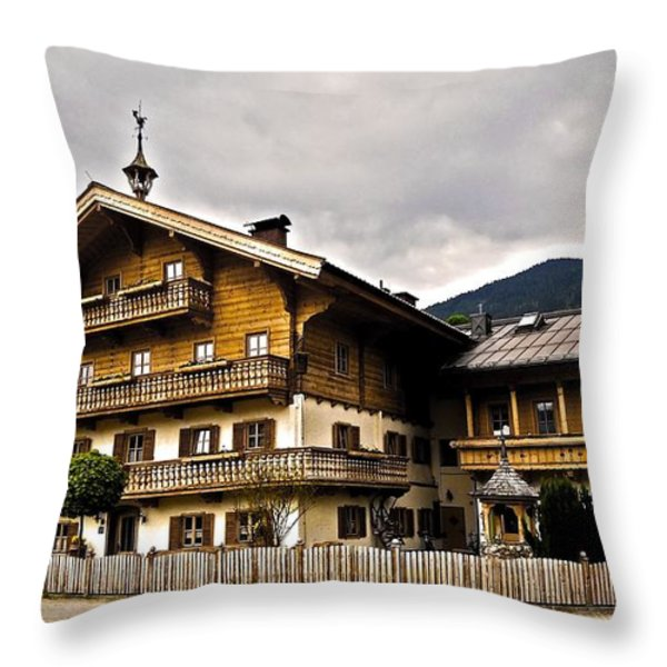 Landhaus Hofermuehle - Maria Alm Throw Pillow by Juergen Weiss