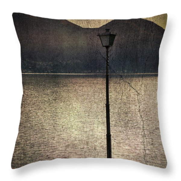lantern at the lake Throw Pillow by Joana Kruse