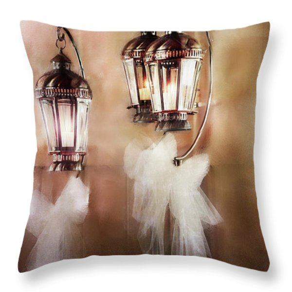 Lanterns Throw Pillow by Stephanie Frey
