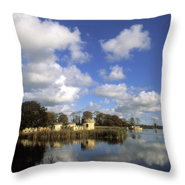 Larchill Arcadian Garden, Co Kildare Throw Pillow by The Irish Image Collection