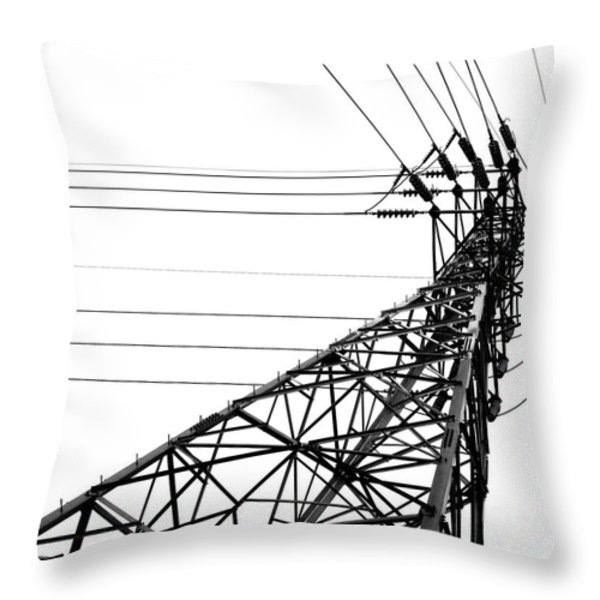 Large Powermast Throw Pillow by Yali Shi