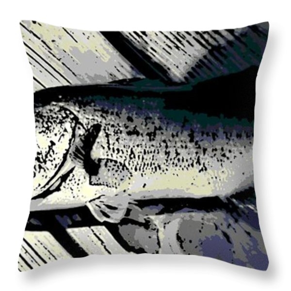 Largemouth Bass Throw Pillow by George Pedro