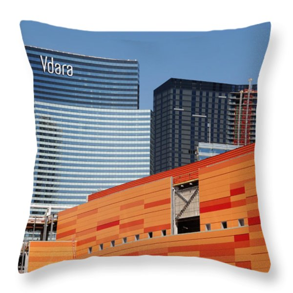 Las Vegas Under Construction Throw Pillow by Susanne Van Hulst