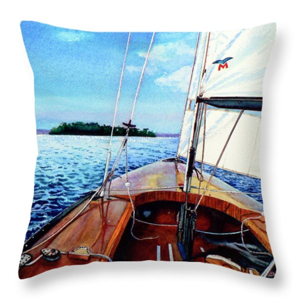 Laser Quest Throw Pillow by Hanne Lore Koehler