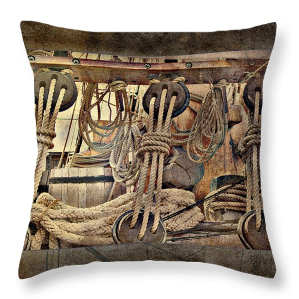 Lashings Throw Pillow by Holly Kempe