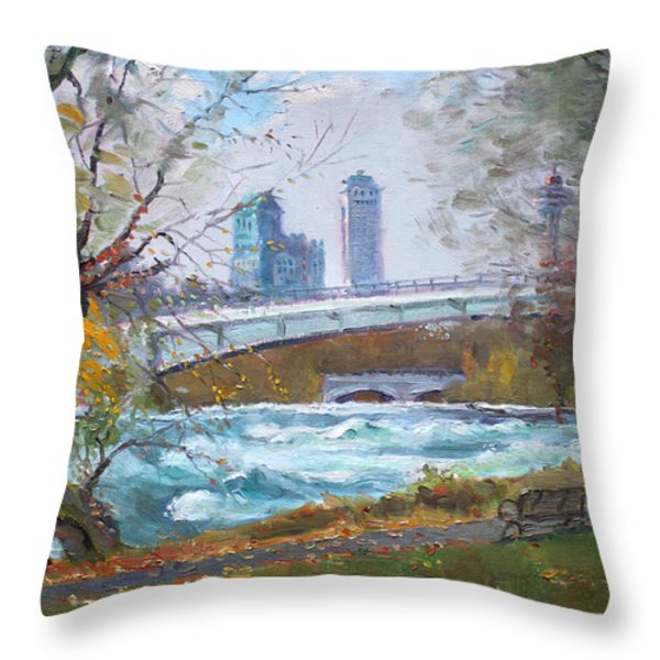 Last Leaves  Throw Pillow by Ylli Haruni