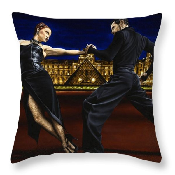 Last Tango in Paris Throw Pillow by Richard Young