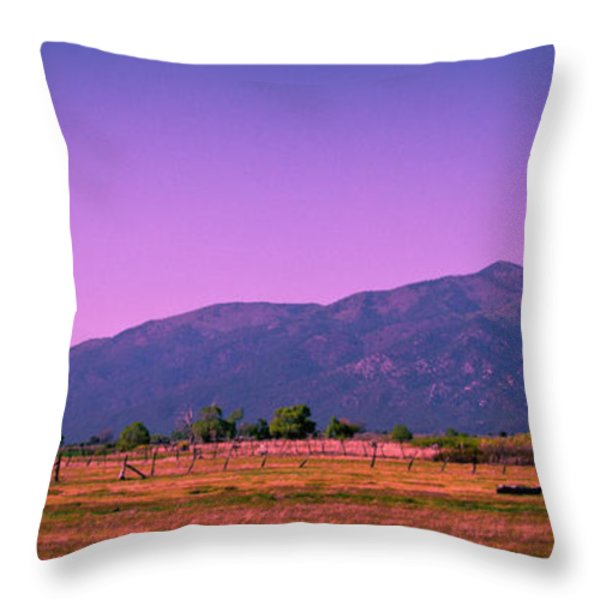 Late Afternoon in Taos Throw Pillow by David Patterson