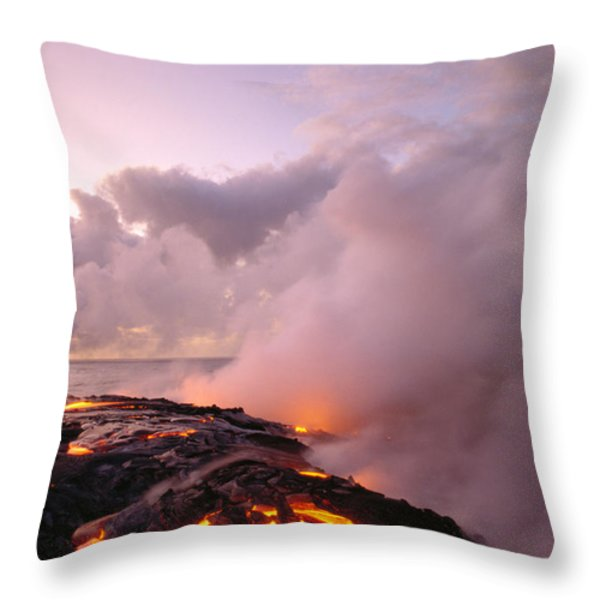 Lava Flows At Sunrise Throw Pillow by Peter French - Printscapes