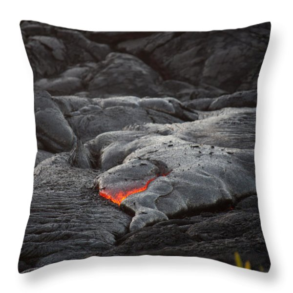 lava Throw Pillow by Ralf Kaiser
