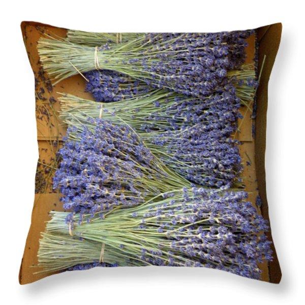 Lavender Bundles Throw Pillow by Lainie Wrightson