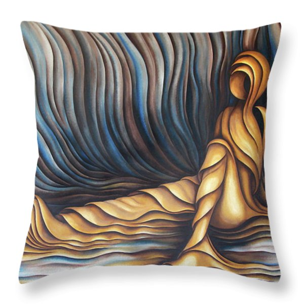 Layers Cxl Throw Pillow by Diana Durr