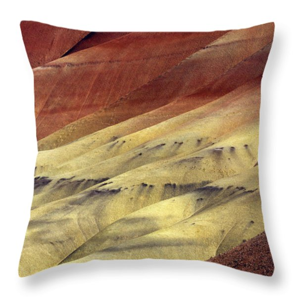 Layers of Red Throw Pillow by Mike  Dawson
