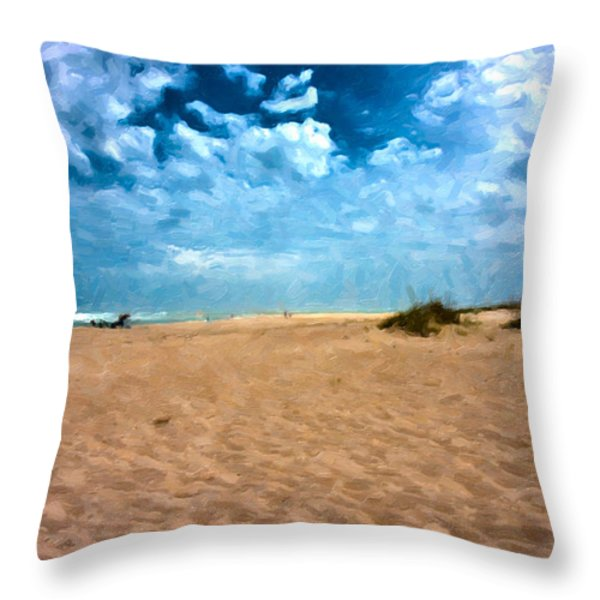 Lazy Day Throw Pillow by Betsy A  Cutler