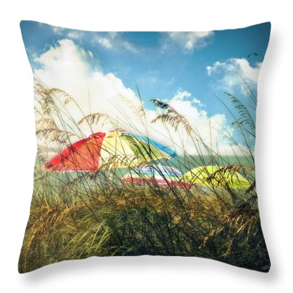 Lazy Days Of Summer Throw Pillow by Tammy Wetzel