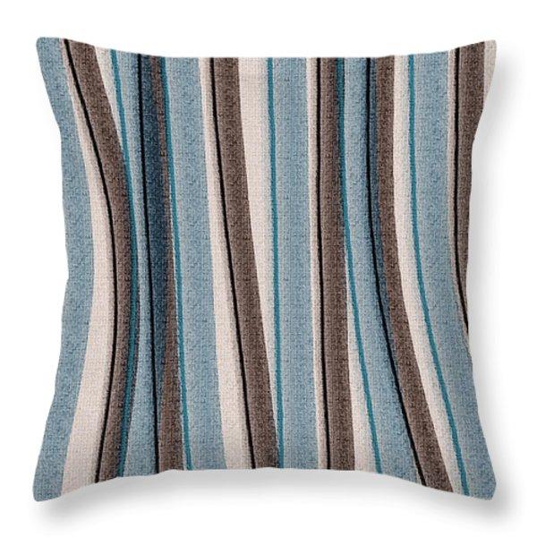 Lazy Stripes Throw Pillow by Bonnie Bruno