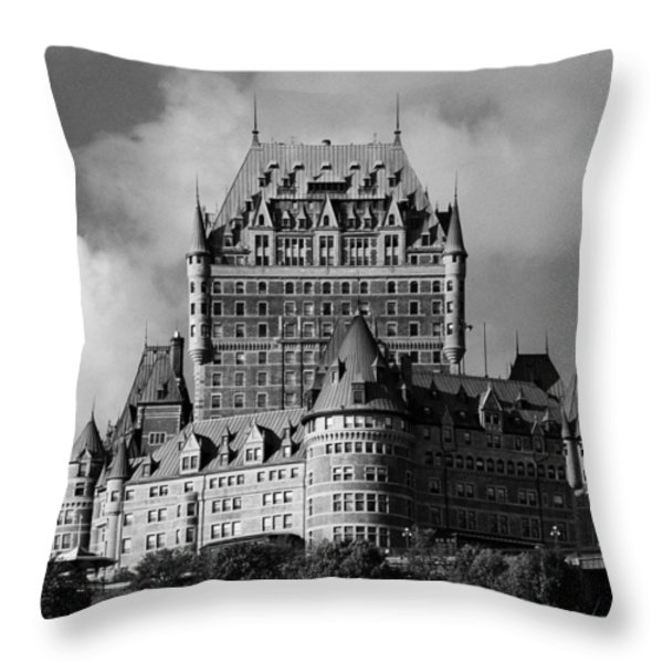 Le Chateau Frontenac - Quebec City Throw Pillow by Juergen Weiss