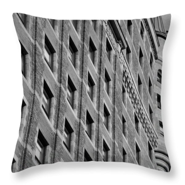 Le Chateau Frontenac Throw Pillow by Juergen Weiss
