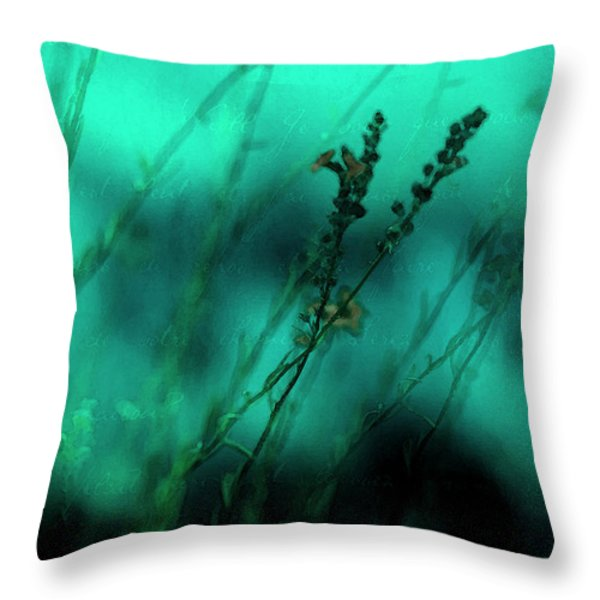 Le Jardin Throw Pillow by Bonnie Bruno