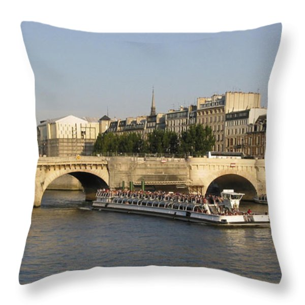 Le Pont Neuf. Paris. Throw Pillow by BERNARD JAUBERT