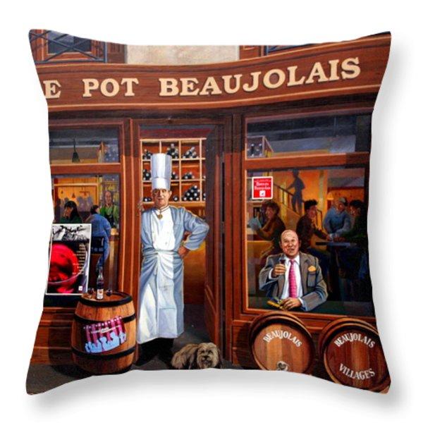 Le Pot Beaujolais Throw Pillow by Laurel Talabere