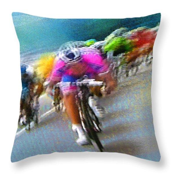 Le Tour De France 09 Throw Pillow by Miki De Goodaboom