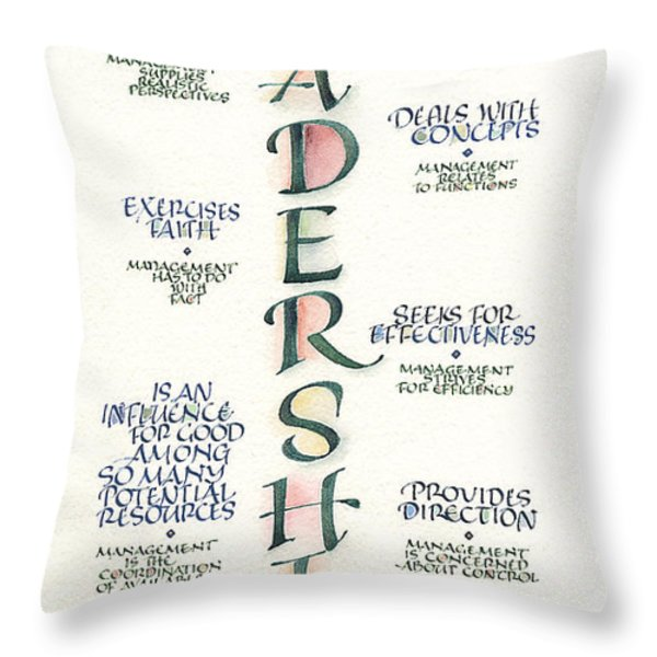 Leadership Throw Pillow by Judy Dodds