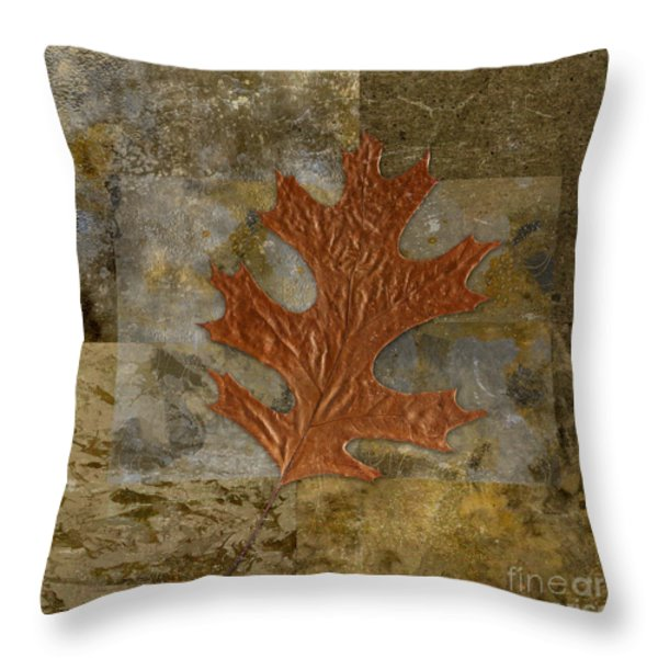 Leaf Life 01 -Brown 01b2 Throw Pillow by Variance Collections
