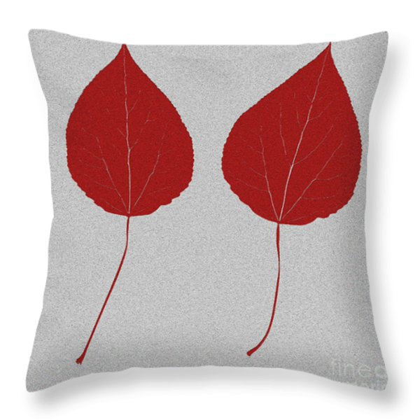 Leafs Rouge Throw Pillow by Bruce Stanfield