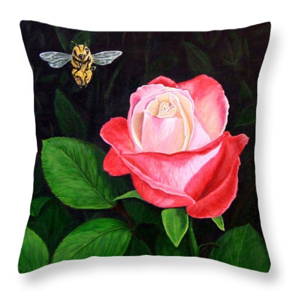 Leave My Rose Alone Throw Pillow by Jim Ziemer