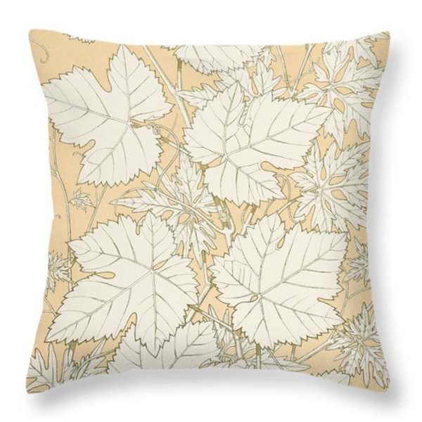 Leaves From Nature Throw Pillow by Christopher Dresser