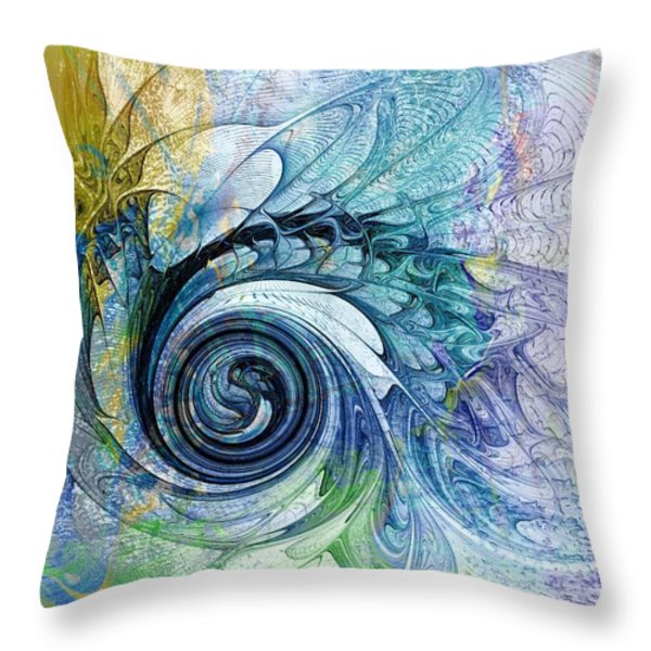Leaving It All Behind Throw Pillow by Amanda Moore