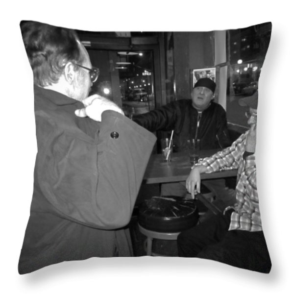 Leaving So Soon Throw Pillow by Kym Backland