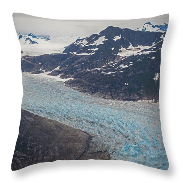 LeConte Glacial Flow Throw Pillow by Mike Reid