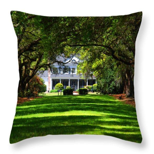 Legare Waring House Charleston Sc Throw Pillow by Susanne Van Hulst