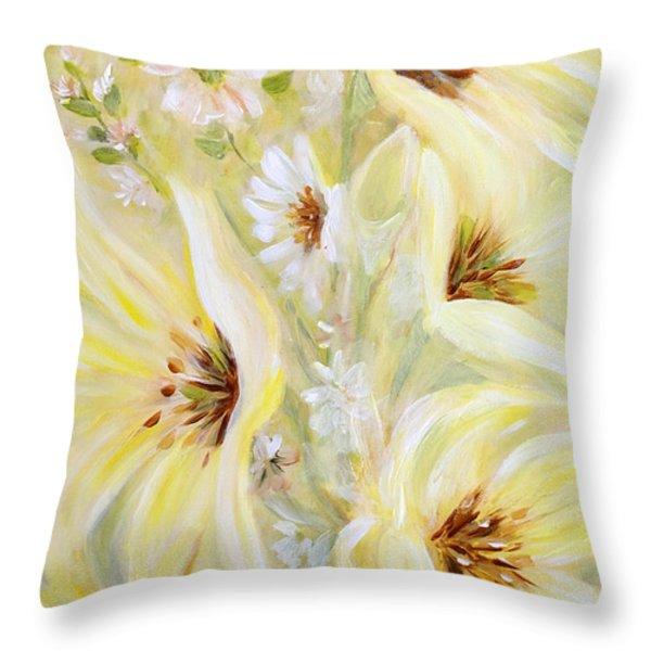 Lemon Chiffon Throw Pillow by Joanne Smoley