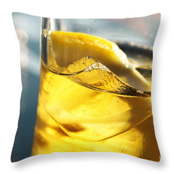 Lemon Drink Throw Pillow by Carlos Caetano